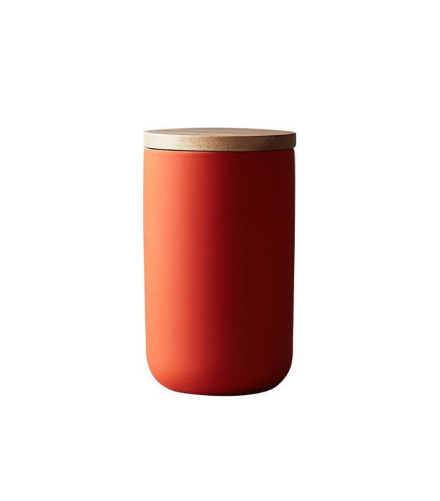 Anthropologie Wood-Topped Canister