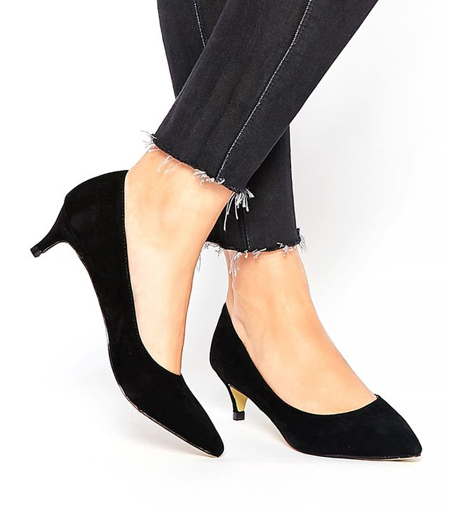 Truffle Collection Mid Heeled Court Shoes