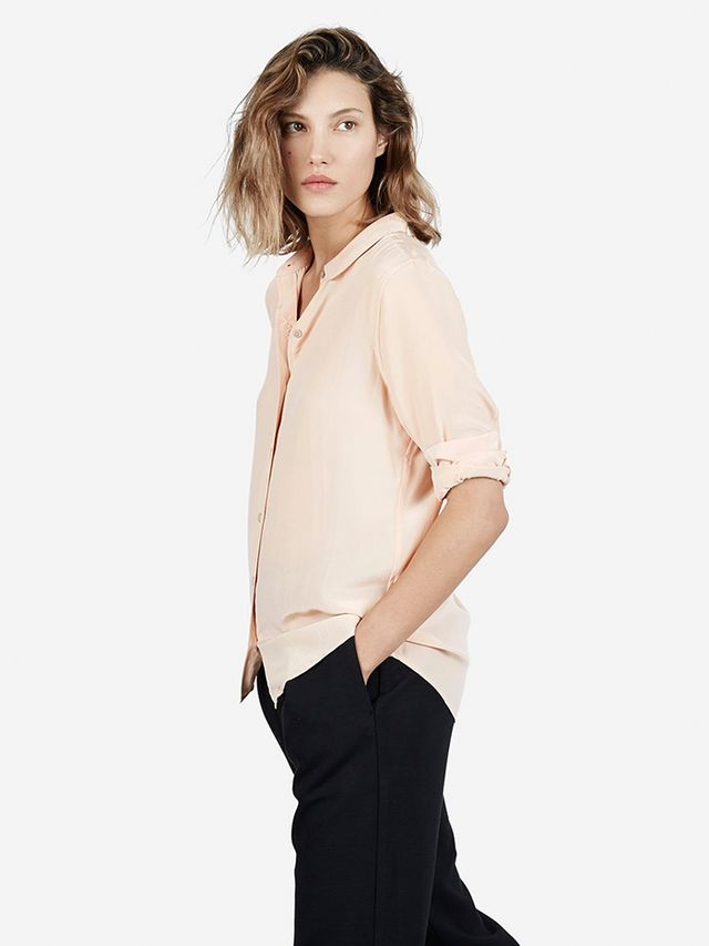 Everlane The Silk Round Collar Shirt