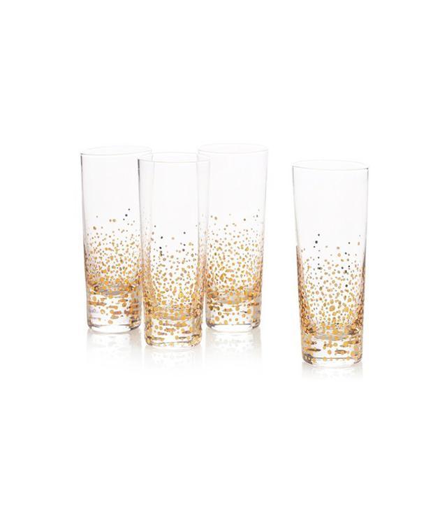 West Elm Metallic Bubble Highball Glasses