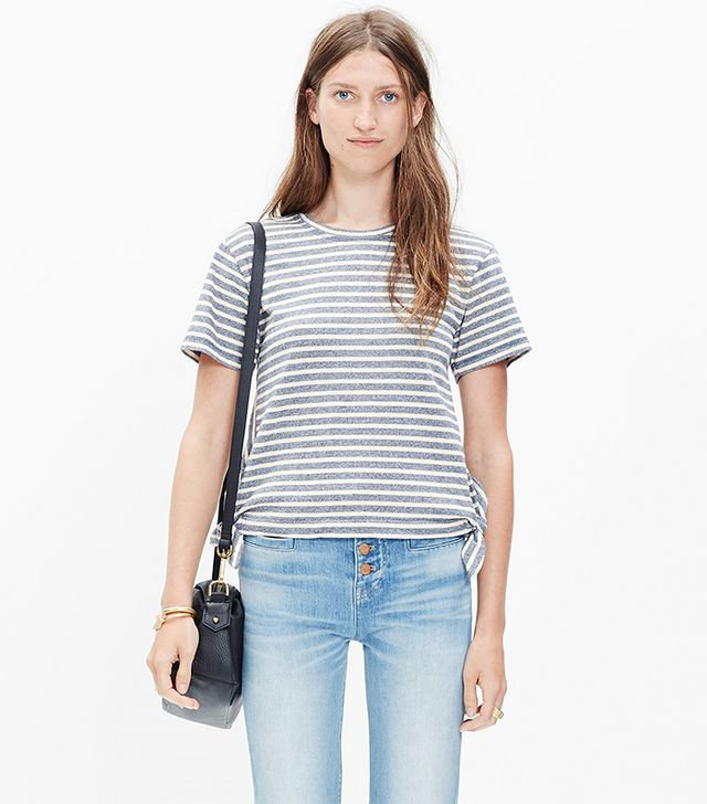 Madewell Side-Tie Crop Tee