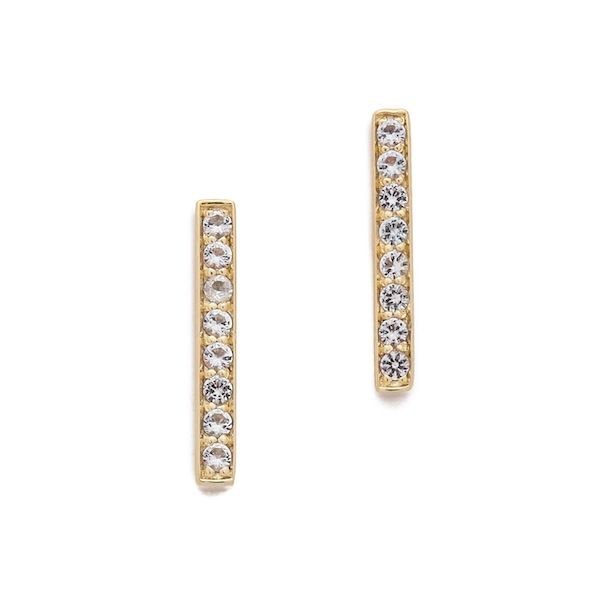 Elizabeth & James Braque Bar Stud Earrings