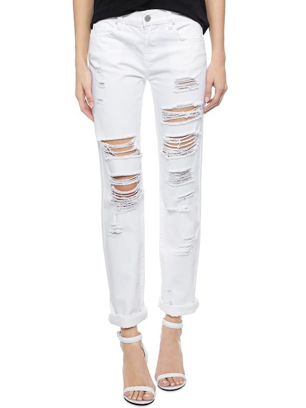 Blank Denim Distressed Boyfriend Jeans