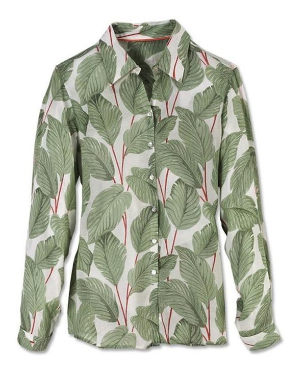 Orvis Banana Leaf Print Shirt