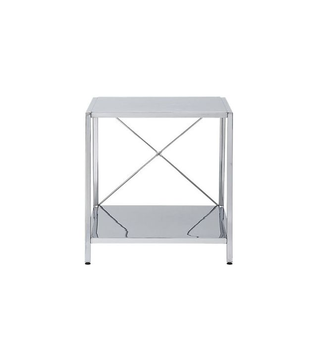 CB2 Harvey Chrome Nightstand