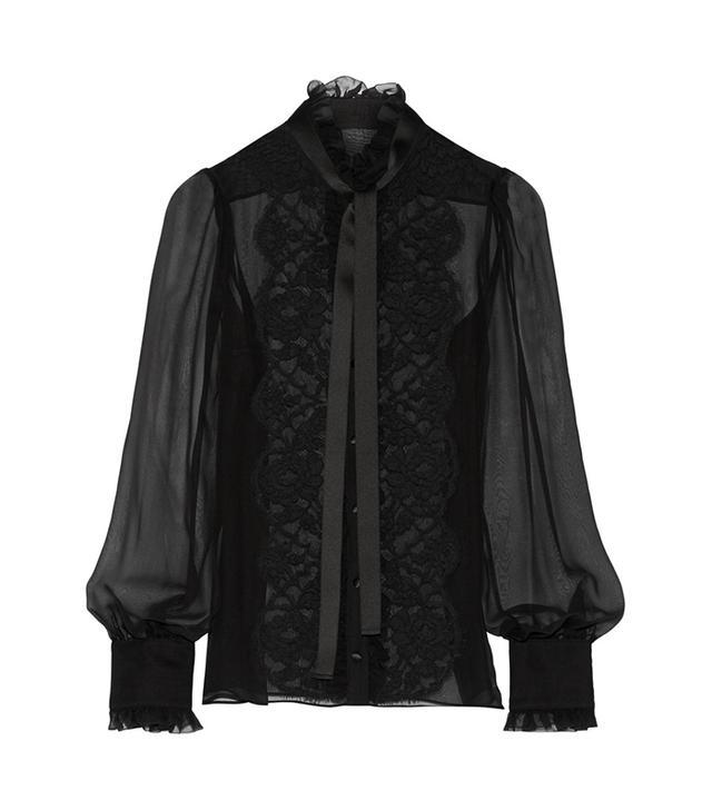 Dolce & Gabbana Pussy-Bow Chiffon Blouse