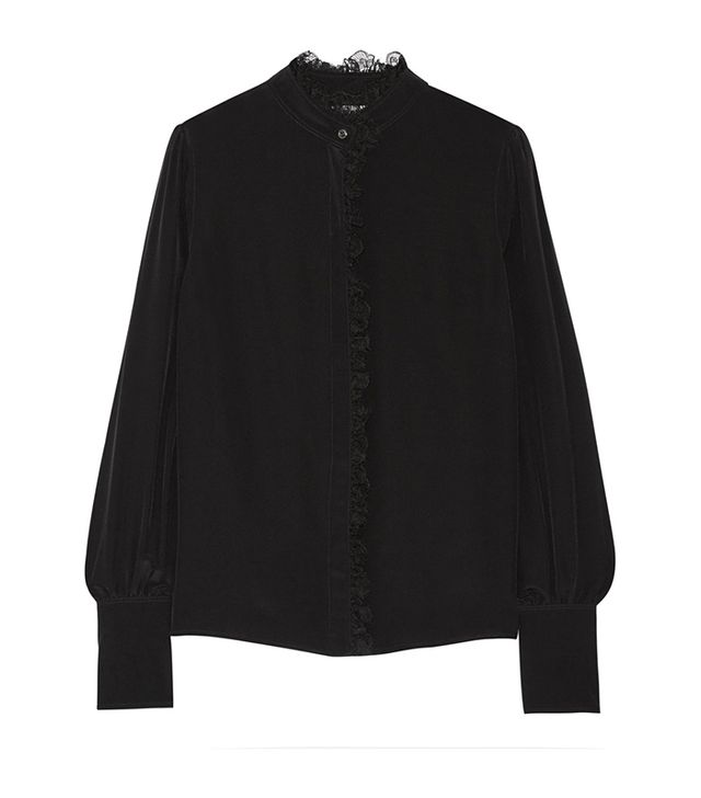 Altuzarra Knox Lace-Trimmed Silk Shirt ($