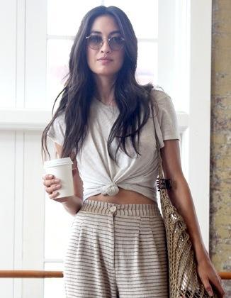 Model-Off-Duty Style: Jessica Mau Masters a Boho Coffee-Run Look