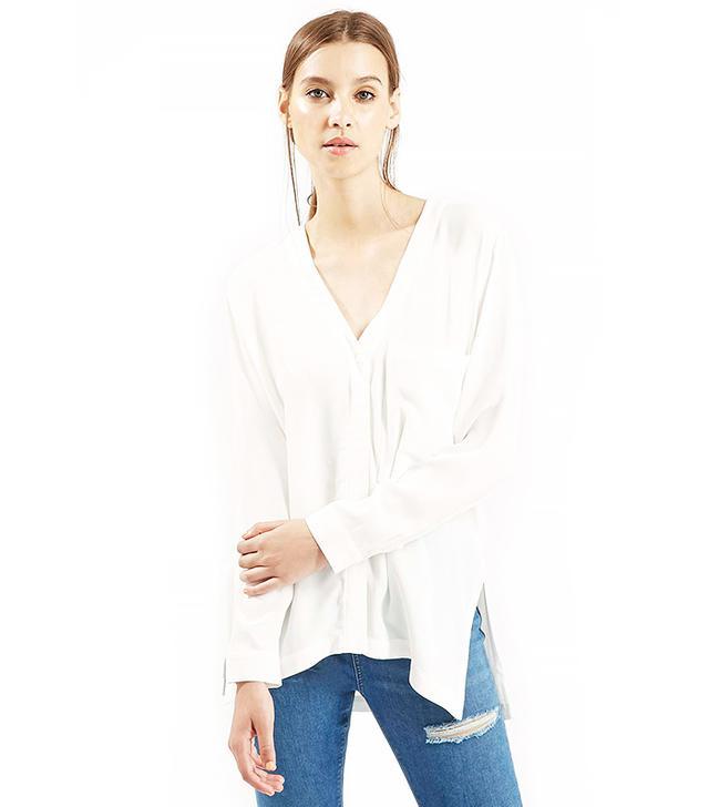 Topshop Slouchy Pocket Shirt Tunic