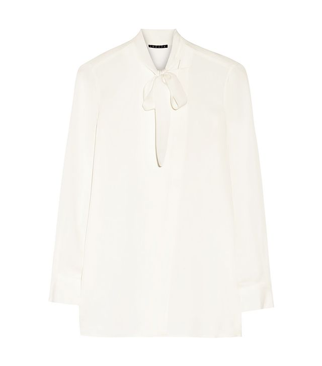 Theory Yumcha Pussy-Bow Blouse