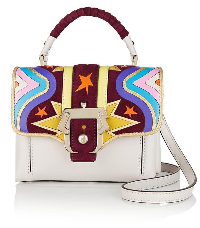 Paula Cademartori Dun Dun Mini Appliqued Leather Bag