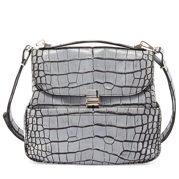 Proenza Schouler Kent Croc-Embossed Leather Shoulder Bag