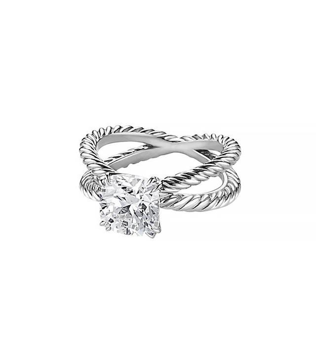 David Yurman Crossover Engagement Ring in Platinum
