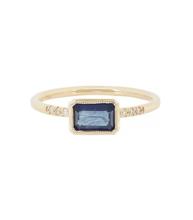 Jennie Kwon Sapphire, Pave Diamond & Gold Ring