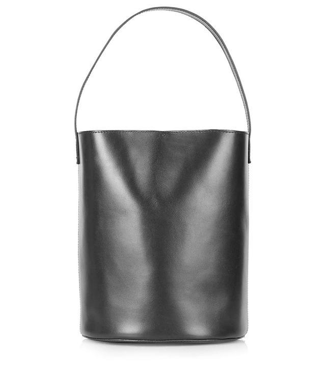 Topshop Premium Leather Bucket Bag