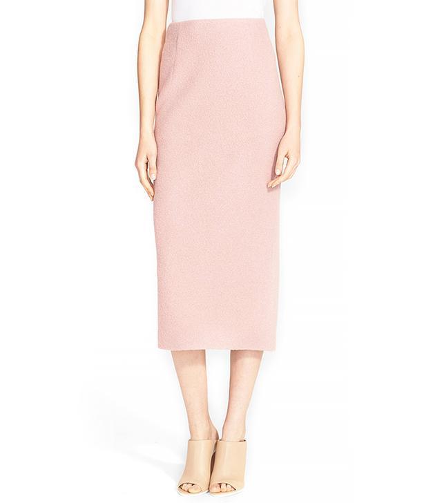 Tibi Bouclé Knit Wool Pencil Skirt