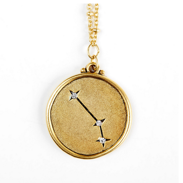 Sequin Aries Constellation Necklace