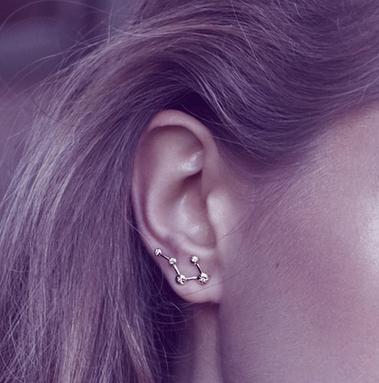 Logan Hollowell Star Set Constellation Earrings