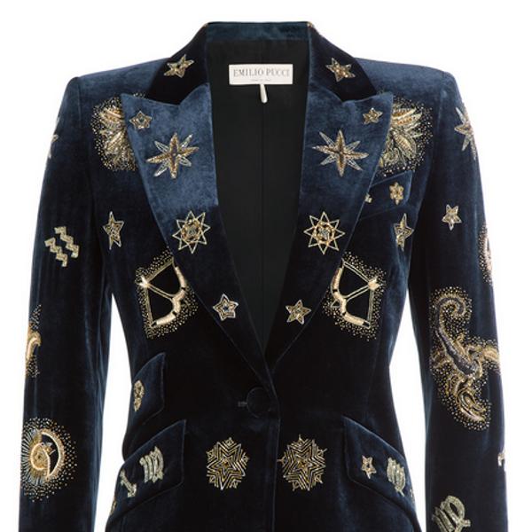 Emilio Pucci Embroidered Velvet Blazer