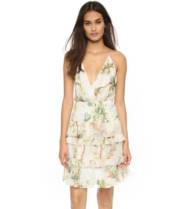 Philosophy di Lorenzo Serafini Ruffled Halter Dress