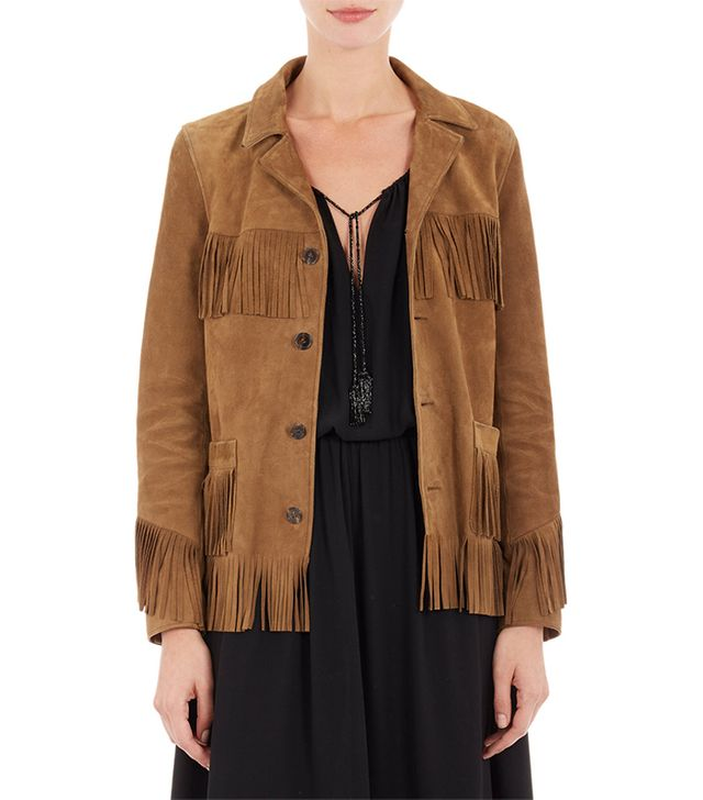 Saint Laurent Fringed Suede Jacket