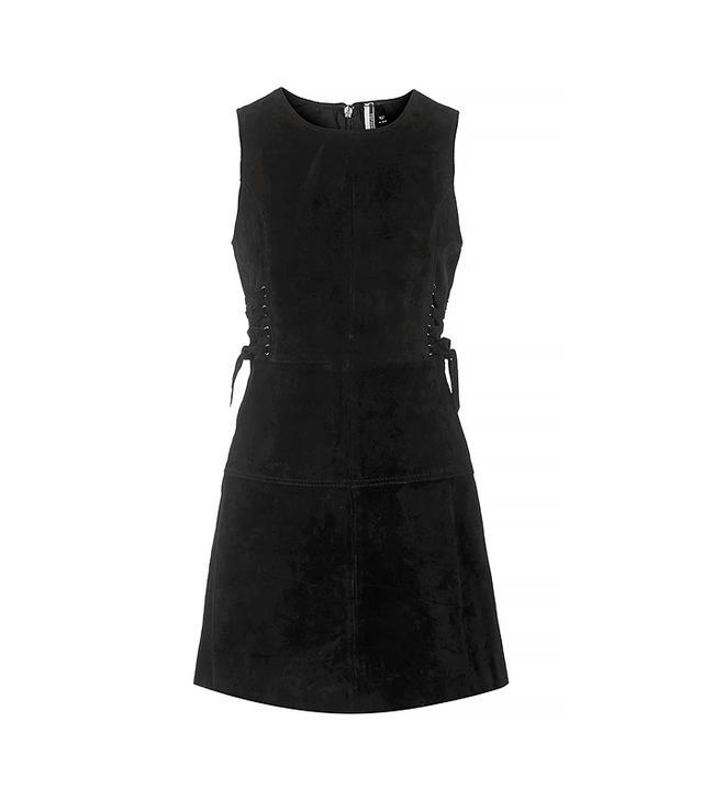 Topshop Premium Suede Tie-Side Dress