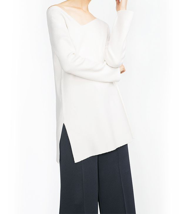 Zara Sweater With Asymmetric Neckline