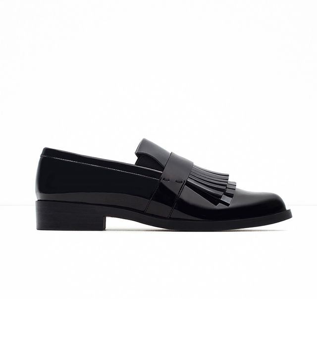 Zara Fringed Penny Loafers