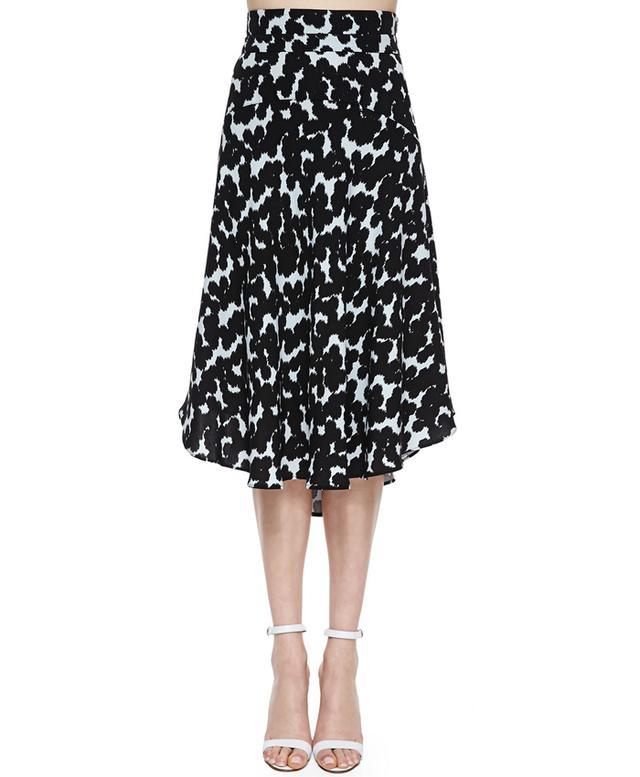 A.L.C. Corso Silk Floral-Print Skirt