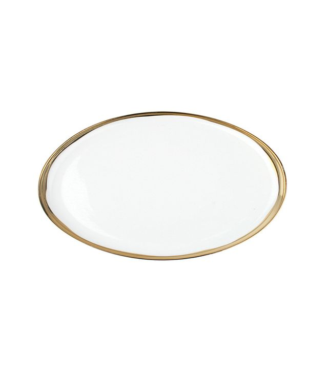 Canvas Home Dauville Platter with Gold Rim
