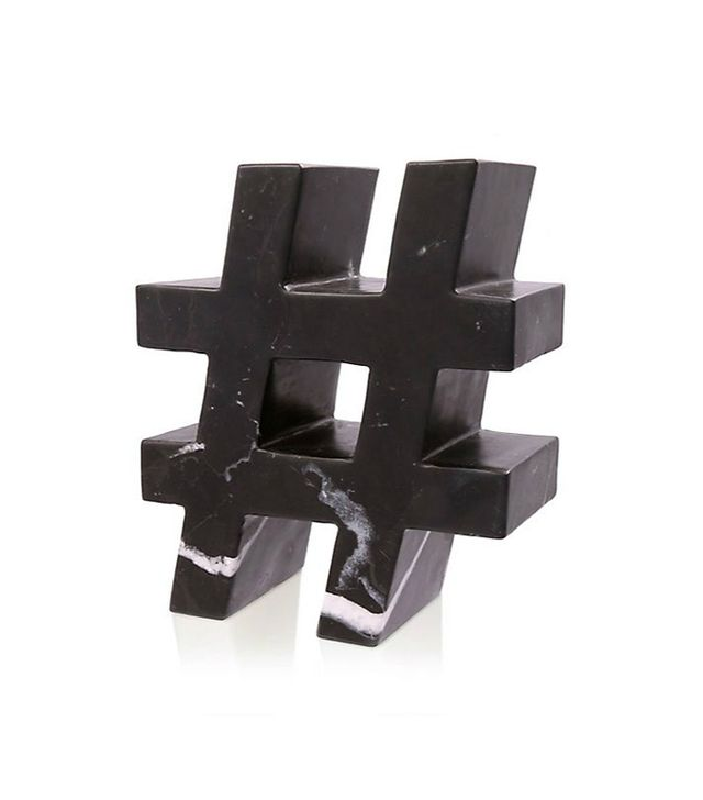 Kelly Wearstler Marble Hashtag Sculpture