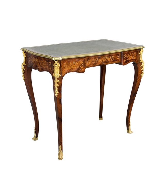 1stdibs 19th C. Louis XV Style Marquetry Ladies Desk