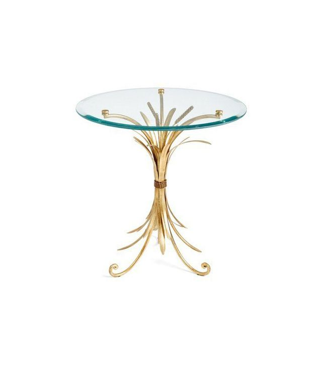 One Kings Lane Gold Wheat-Sheaf Side Table