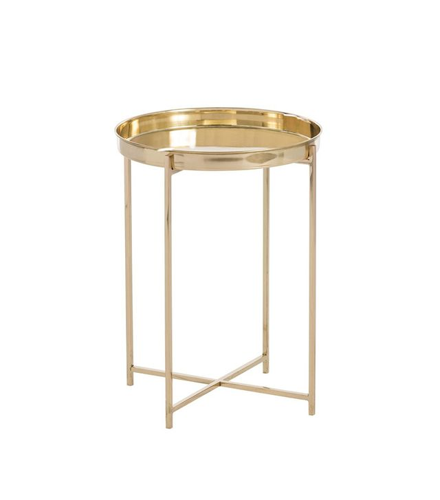 Arteriors Polished Brass Accent Table