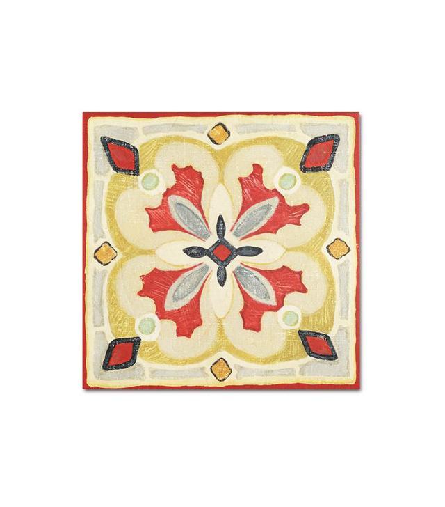 Trademark Fine Art Bohemian Rooster Tile Square III
