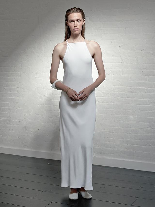Locke Bride Modern Bias Cut Dress