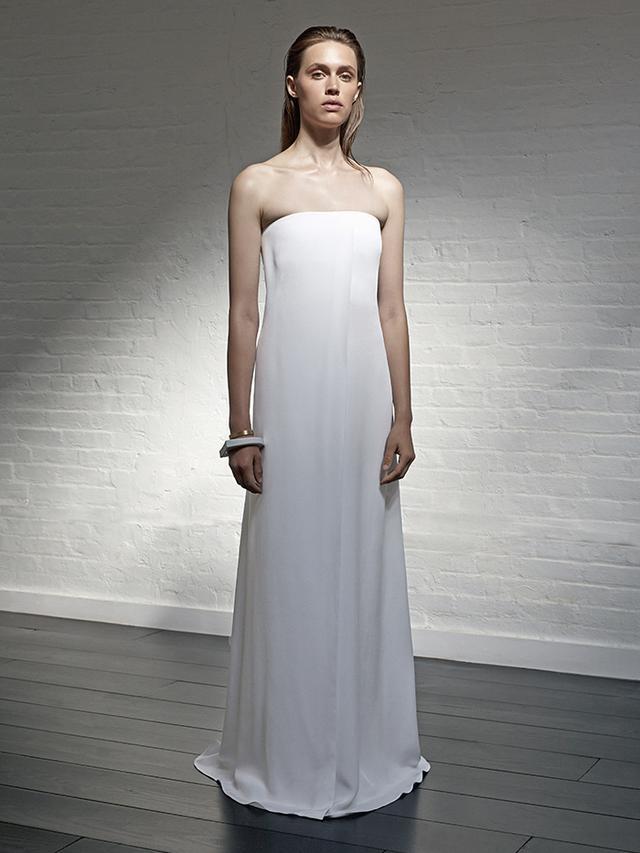 Locke Bride Strapless Column Dress