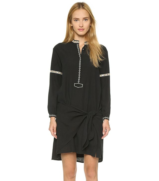 Ulla Johnson Lizzie Embroidered Silk Dress