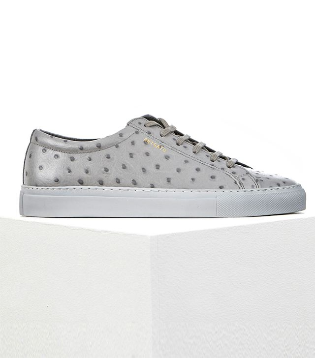 Axel Arigato Low Sneaker Ostrich Embossed Leather Sneakers