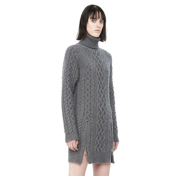 Alexander Wang Cable Knit Turtleneck Dress