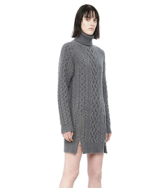 Alexander Wang Cable Knit Turtleneck Dress