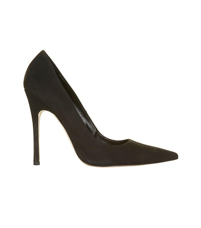 Topshop Gallop Nubuck Court Shoes