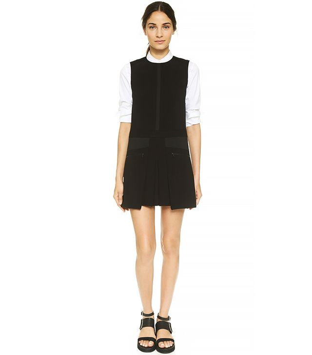 Public School Bellow Pocket Pleated Dress
