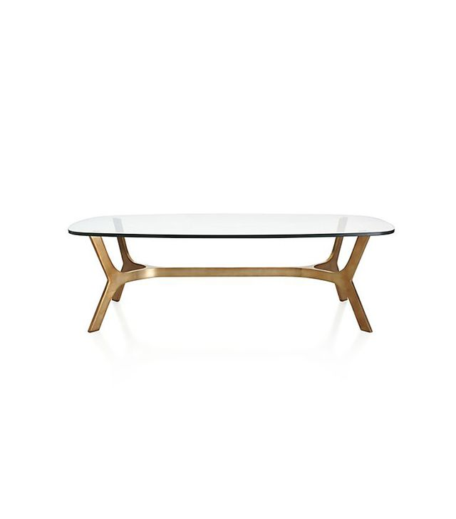 Crate and Barrel Elke Glass Coffee Table
