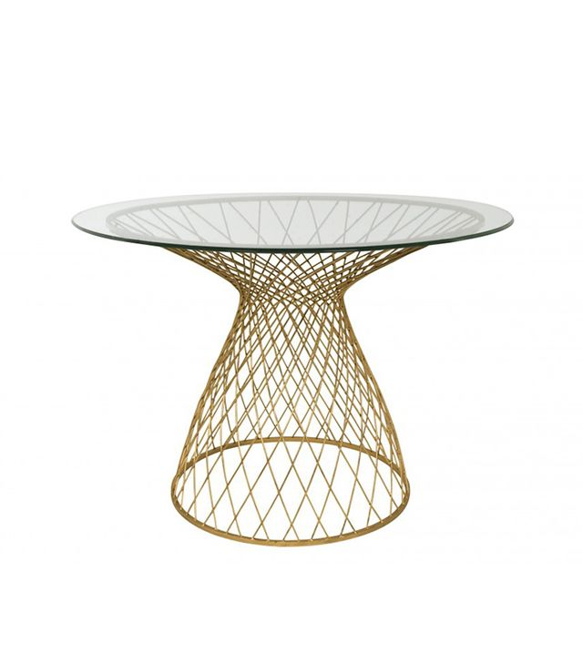 Jayson Home Dakota Table in Gold