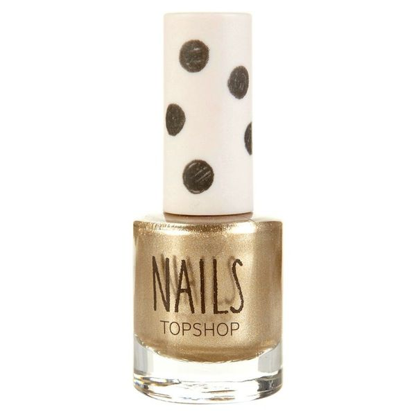 Topshop Metallic Nail Polish in Heart of Gold