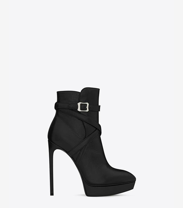 Saint Laurent Classic Janis 105 Jodhpur Ankle Boots