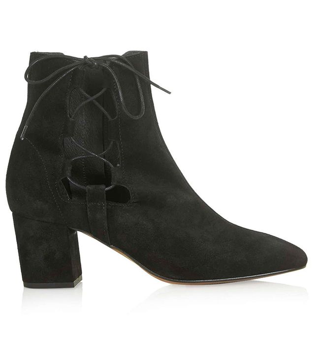 Topshop Madrid Ghillie Side Tie Boots