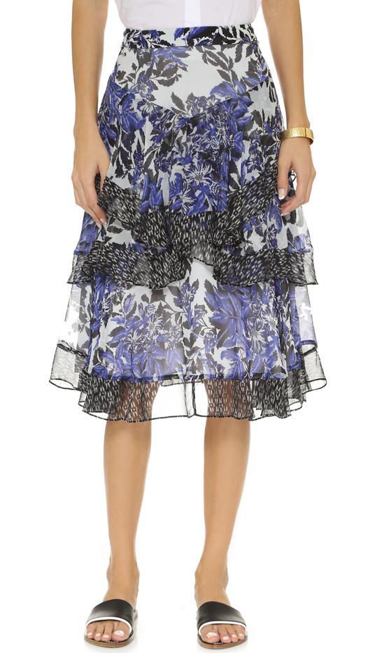 Rebecca Taylor Flame Combo Skirt