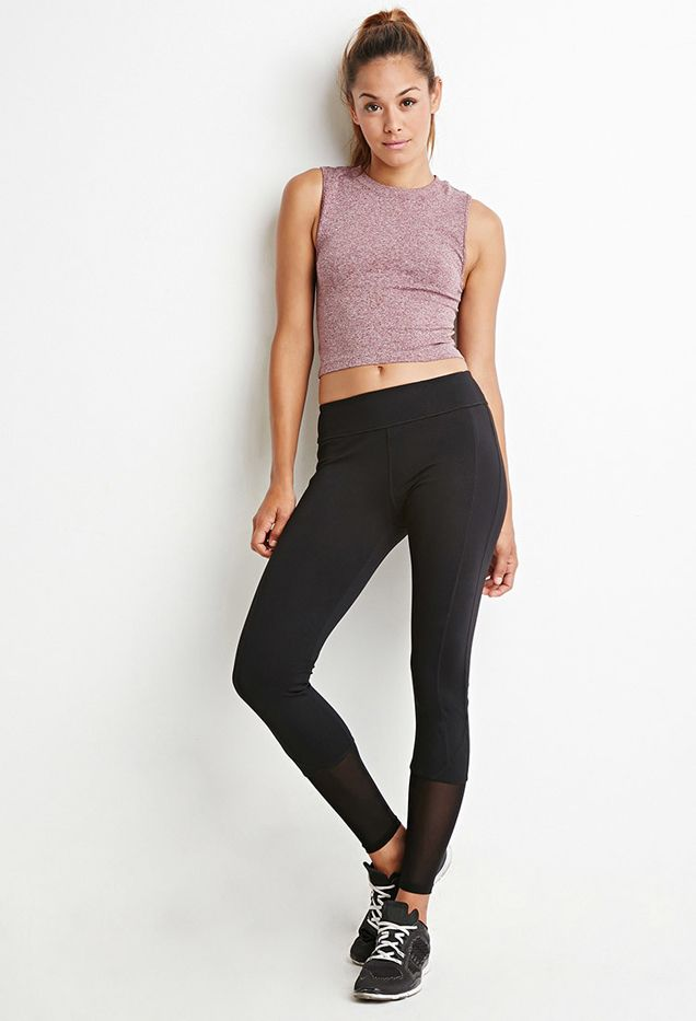 Forever 21 Mesh-Ankle Athletic Leggings